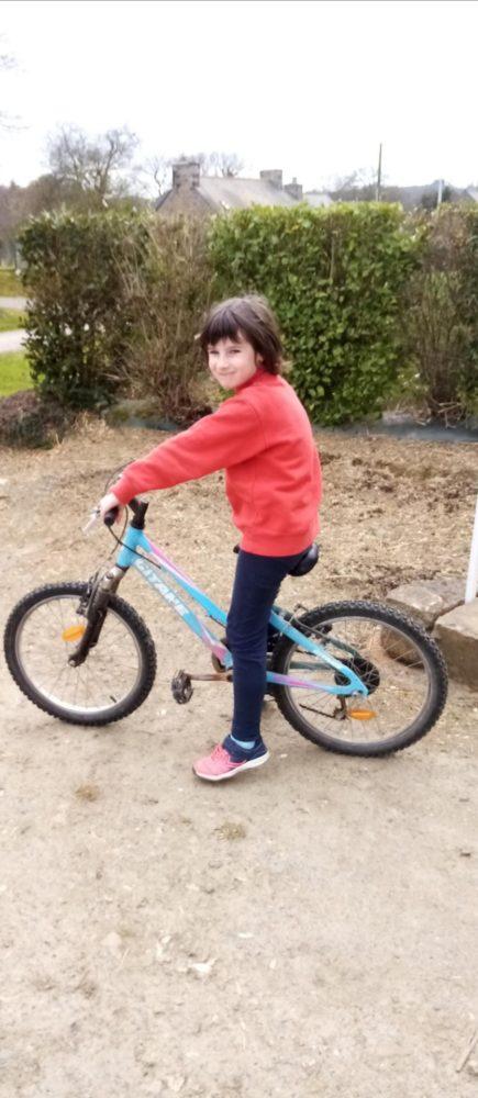 à bicyclette !!!!!!